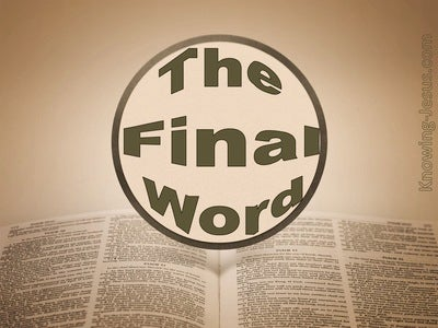 The Final Word (devotional) (brown)