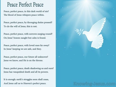 Be A Blessing, Be A Peacemaker (devotional)03-15 (blue) - poem