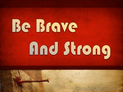 Be Brave and Strong (devotional) (beige) - 1 Corinthians 16:13