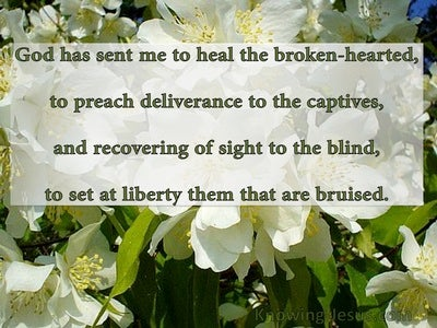 Beauty For Brokenness (devotional) (green) - Luke 4:18