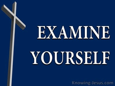 2 Corinthians 13:5  Examine Yourself (devotional)08:20 (navy)