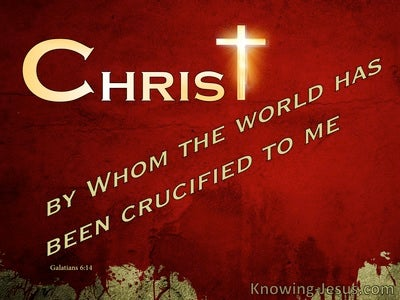 Christ Crucified (devotional) (red) - Galatians 6:14