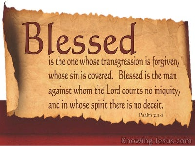 Consequences of Sin (devotional) (brown) - Psalm 32:1