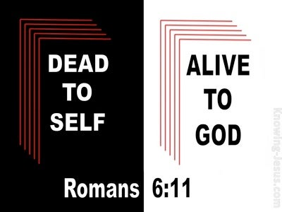Romans 6:11 Dead to Self (devotional)07-25 (black)