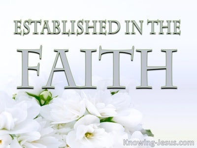 Established in the Faith (devotional)