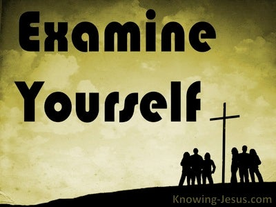 2 Corinthians 13:5 Examine Yourself (sage)