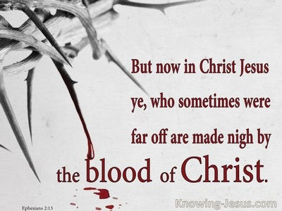 Fountain of Blood (devotional) (gray) - Ephesians 2:13