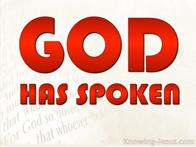 God Has Spoken (devotional) (red) - Hebrews 1:1