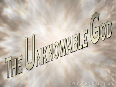 The Unknowable God (devotional) (beige)