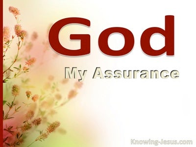 God, My Assurance (devotional) (red)