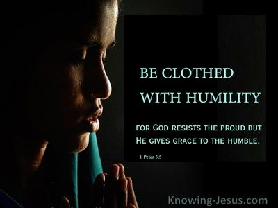 The Garment of Grace (devotional) (black) - 1 Peter 5:5