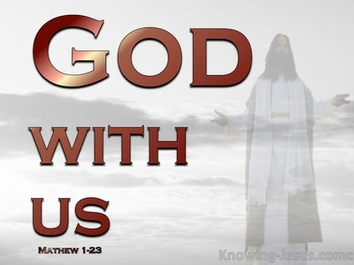 God With Us (devotional) (red) - Matthew 1:23