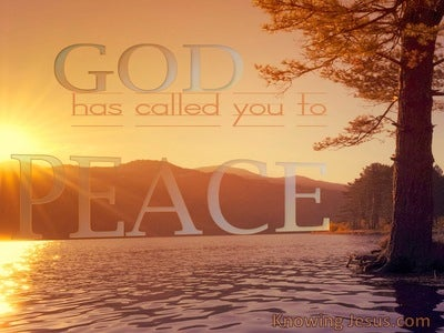 God's Peace (devotional) 1 Corinthians 7:15 2