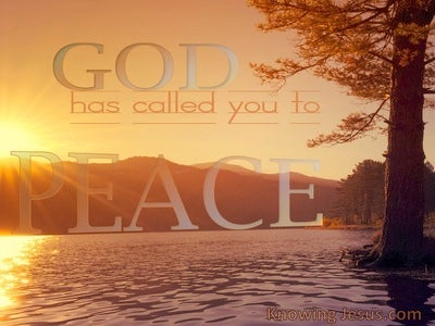 God's Peace (devotional) (brown) - 1 Corinthians 7:15