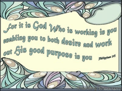 God's Work in You (devotional) - Philippians 2:13