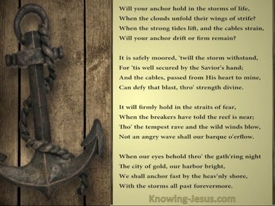 God, My Anchor (devotional) (gold) - poem