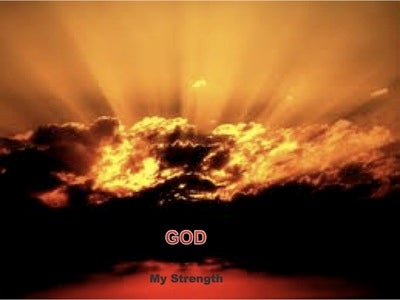 God, My Strength (devotional) (red)