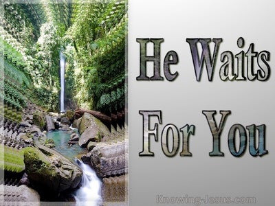 He Waits For You (devotional) (green)