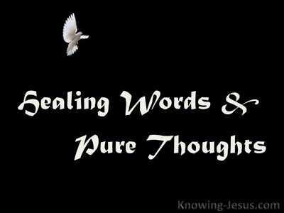 Healing Words and Pure Thoughts (devotional) (white)