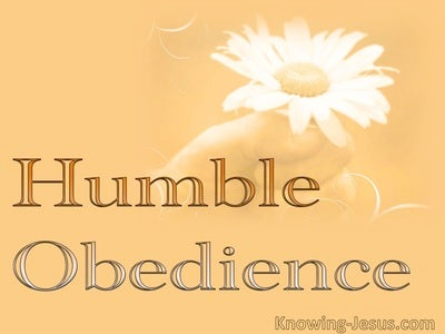 Humble Obedience (devotional) (white)