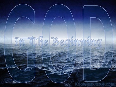 The Inexpressibly Powerful God (devotional) (blue) - Genesis 1:1