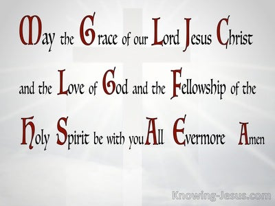 2 Corinthians 13:14 Grace Love And Fellowship (gray)