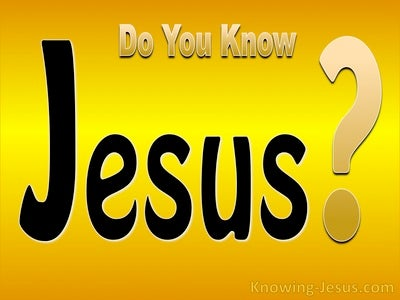 Do You Know Jesus (devotional)06-15 (yellow)