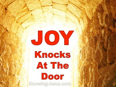 Joy Knocks at the Door (devotional)