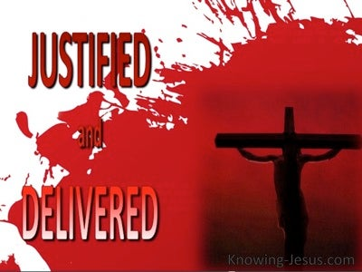 The Blood and the Cross (devotional) (red) - Romans 5:9