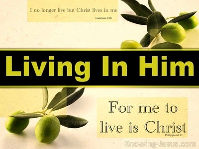 Living In Him (devotional) (green) - Philippians 1:21