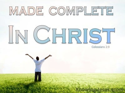 Made Complete in Christ (devotional) - Colossians 2:9