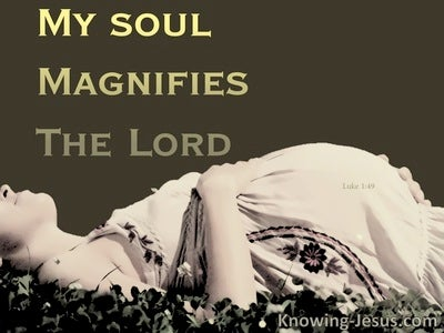 Magnify The Lord (devotional) (brown) - Luke 1:46