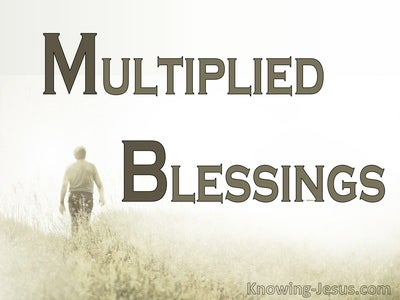 Multiplied Blessings (devotional)10-01 (beige)