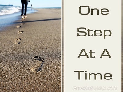 One Step At A Time (devotional)