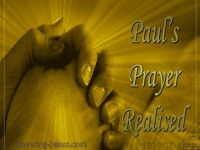 Paul's Prayer Realised (devotional)