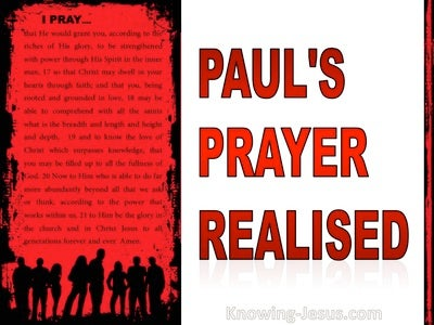 Paul's Prayer Realised (devotional) (white) - Ephesians 3:14