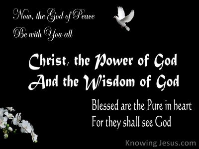 Peace, Power, Purity (devotional) (black) - 1Corinthians 1:24