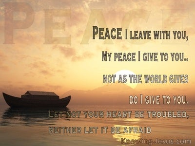 Perfect Peace At Such A Time As This (devotional) - John 14:27