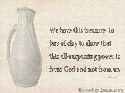 Picture Message From God (devotional) (beige) - 2 Corinthians 4:7