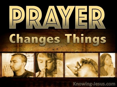Prayer Changes Things (devotional) (gold)