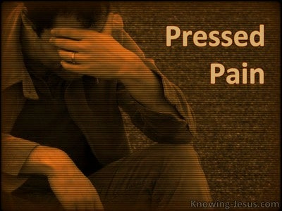 Pressed Pain (devotional) (brown)