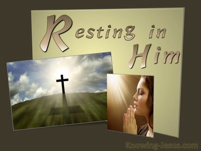 Resting In Him (devotional)