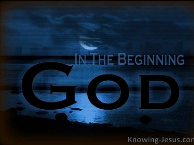 Genesis 1:1 In The Beginning God (blue)