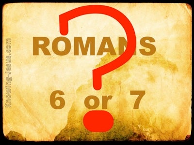 Romans Six and Romans Seven (devotional) (yellow)
