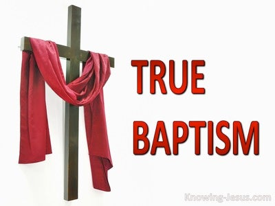 True Baptism (devotional) (red)