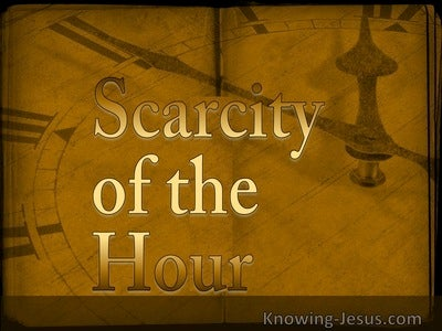 Scarcity of the Hour (devotional)10-22 (brown)