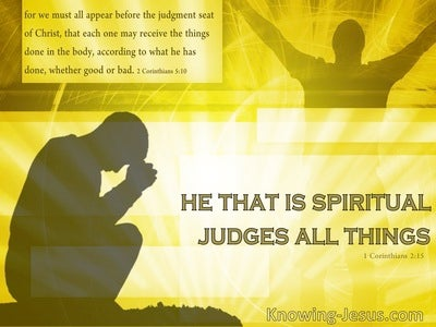 Spiritual Exercise (devotional) (yellow) - 1 Corinthians 2:15
