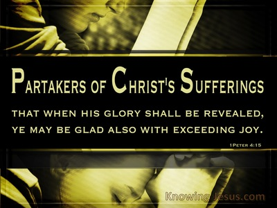 Suffering But Rejoicing (devotional) - 1 Peter 4:15