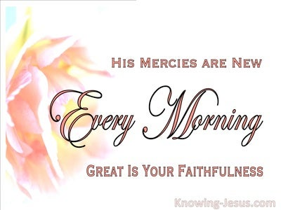 Lamentations 3:23 Tender Mercies (devotional)02:08 (white)