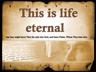 John 17:3 Life Eternal (devotional)03:16 (beige)